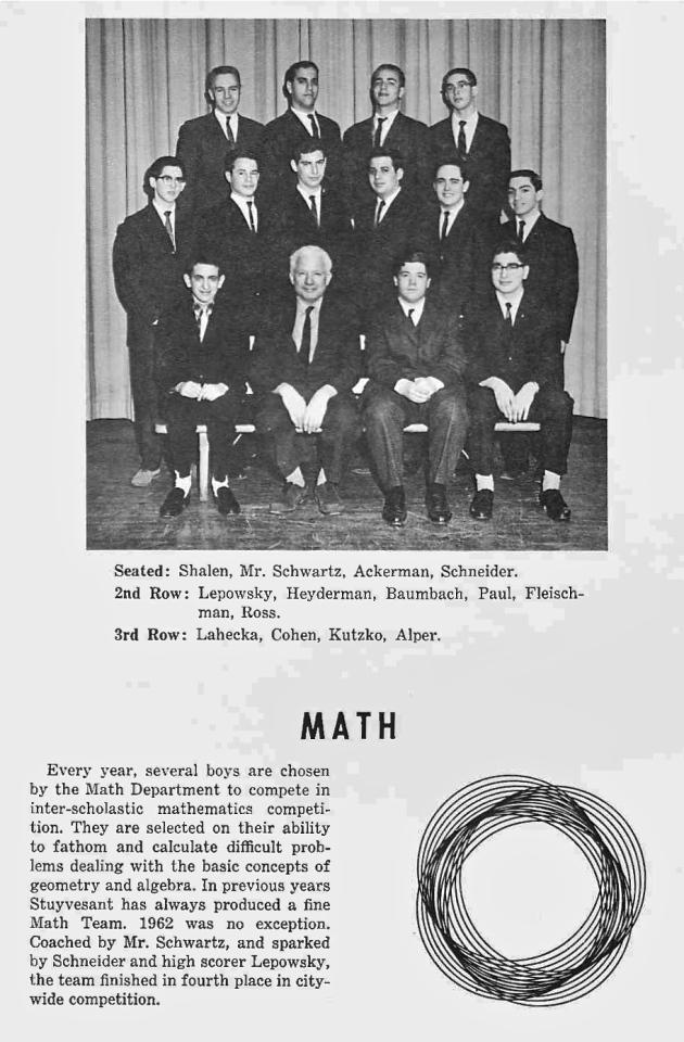 1962 Math Team